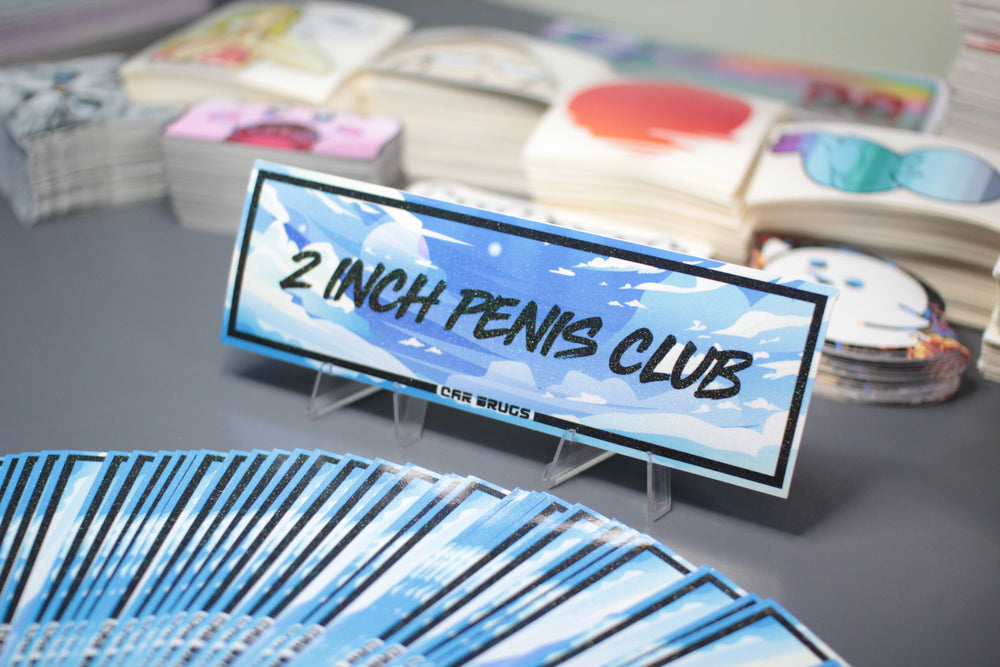 "Crystal Finish /// 2 Inch Penis Club ""Sky"""