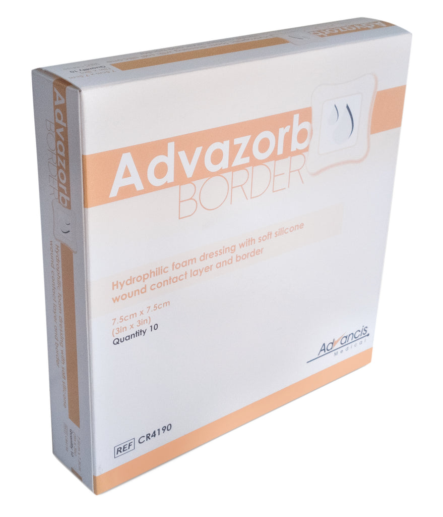 Advazorb Border 7,5x7,5cm (10-pack)
