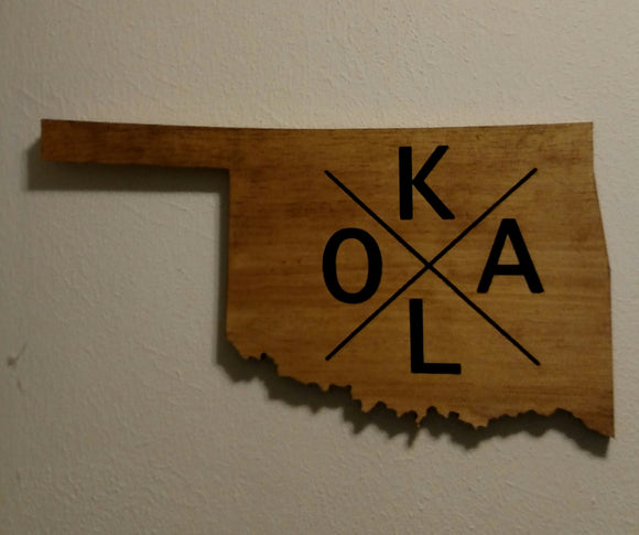 OKLA Oklahoma Cutout Sign