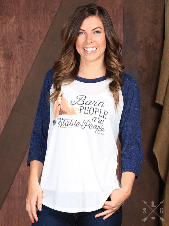 Barn People Are Stable People Raglan