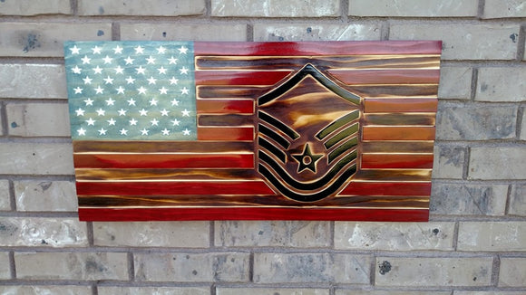 Rustic Air Force Rank Flag Military Retirement Gift Military Promotion Airman Gift