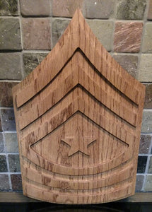 Wooden Army Enlisted Rank Plaques