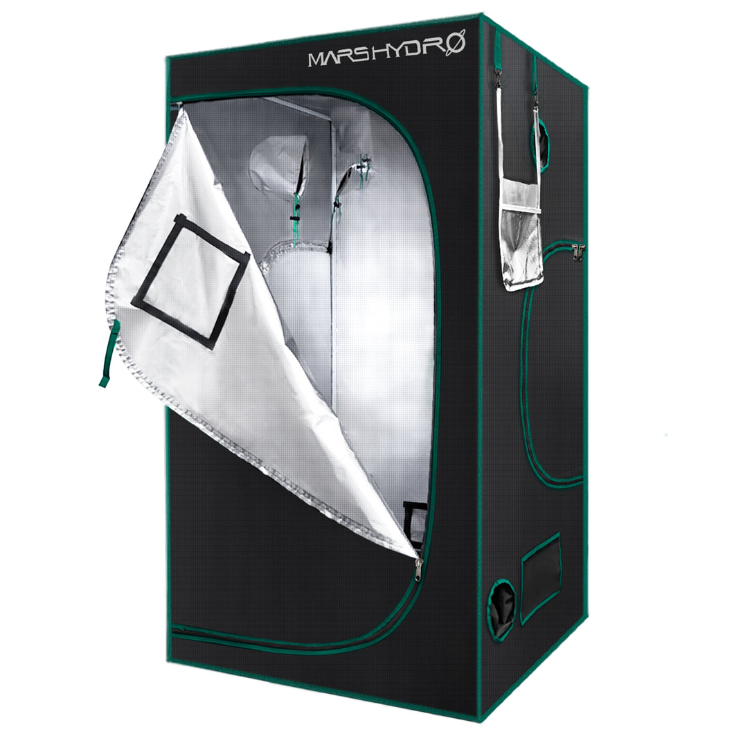 120x120x200cm Indoor Grow Tent Kit Dark Room Hydroponic 1680D Mylar Non Toxic Box