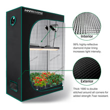 Load image into Gallery viewer, Mars Hydro 120x50x190cm Grow Tents Double Thicker Mylar for Garden and Indoor Hydroponic Plants -Best Match Mars TSL 2000W Led Grow Lights