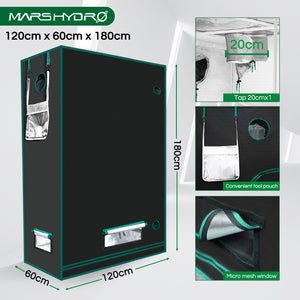 120x60x180cm Indoor Grow Tent Kit Dark Room Hydroponic 1680D Mylar Non Toxic Box