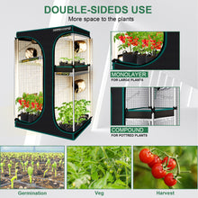 Load image into Gallery viewer, 90x60x140cm Indoor Grow Tent Box Mylar Dark Room for Hydroponics Bud Veg Flower Plant
