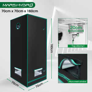 70×70×160 Indoor Grow Tent Mylar Dark Room Hydroponics Bud Veg Flower Plant