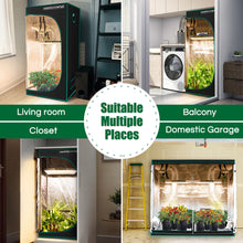 Load image into Gallery viewer, 100x100x180cm Indoor Grow Tent Green Dark Box Room Hydroponics  Mylar Non Toxic