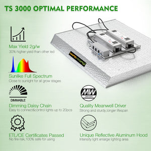 Mars Hydro TS 3000W LED Grow Lights Full Spectrum Plant Lamp Indoor Veg Flower