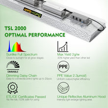 Load image into Gallery viewer, Mars Hydro TSL 2000W LED Grow Lights Veg Flower Plants Growth Lamp Hydroponics