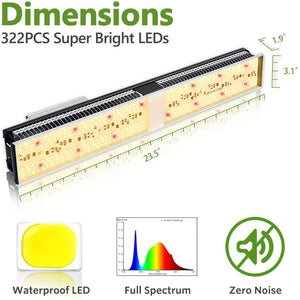 Mars Hydro SP150 Led Grow Light Full Spectrum Strip Hydroponics Panel Indoor Plants High Yield