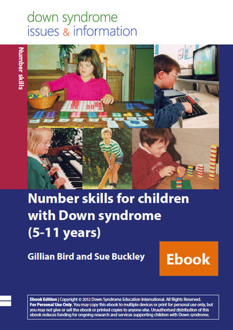 Number Skills for Children with Down Syndrome (5-11 years) - PDF Ebook