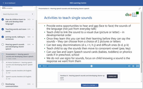 Online course: A parent's guide to speech, language and communication for children with Down syndrome