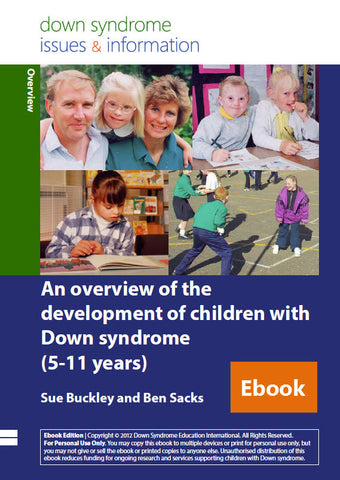 An Overview of the Development of Children with Down Syndrome (5-11 years) - PDF Ebook