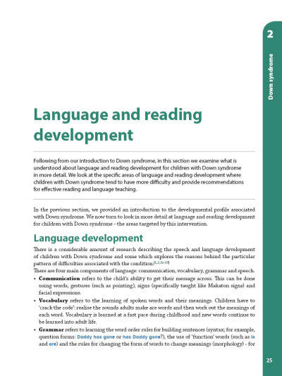 A Reading and Language Intervention for Children with Down Syndrome - Teacher's Handbook