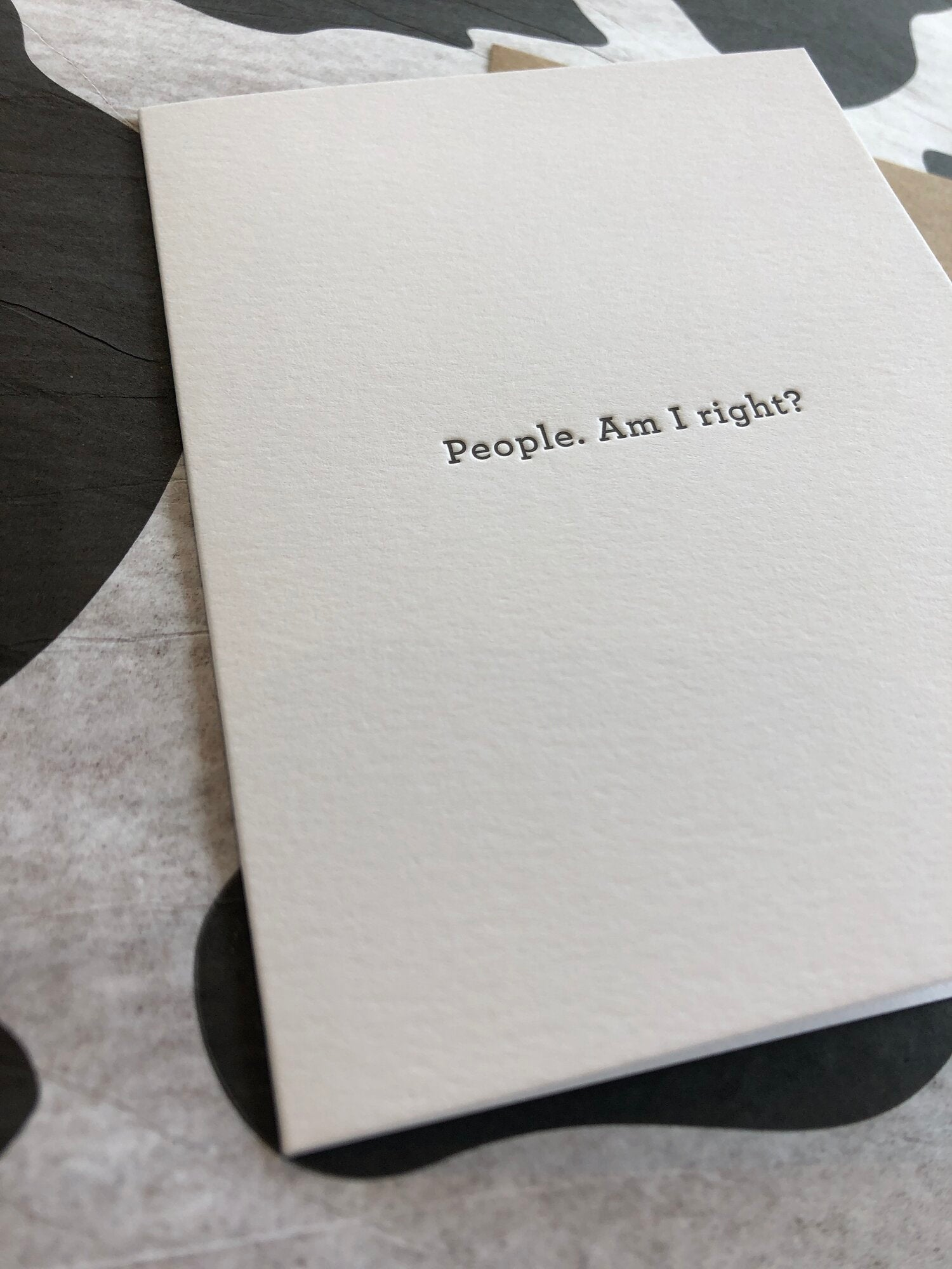 People, Am I Right? Card