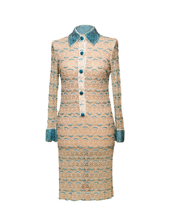 Vintage Beaded Shirt Dress