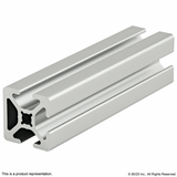 "1003-S 1"" X 1"" Smooth Surface T-Slotted Profile - Three Adjacent Open T-Slots"