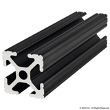 "1010-Black 1.00"" X 1.00"" T-Slotted Profile - Four Open T-Slots"