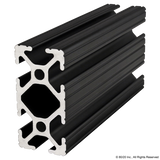 "1020-Black 1"" X 2"" T-Slotted Extrusion"