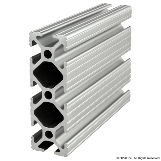 "1030 - 1.00"" X 3.00"" T-Slotted Profile - Eight Open T-Slots"