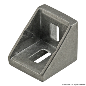 14060 - 20 Series 2 Hole - 18mm Slotted Inside Corner Bracket with Alignment Nub