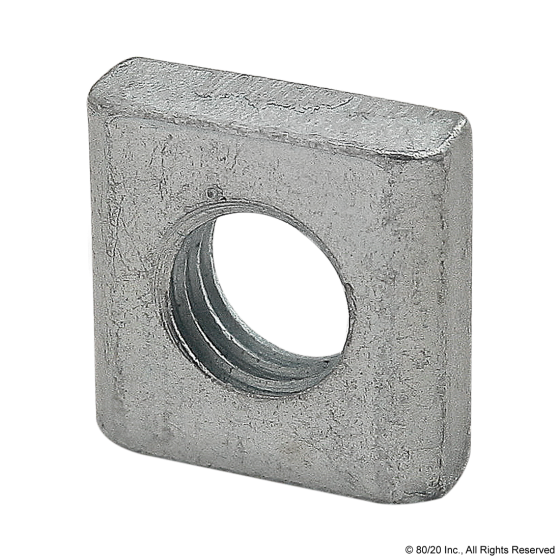 14122 Threaded Plate  9 X 9 X 3 M5Clear Zinc