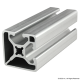 "1502-LS  1.5"" X 1.5"" Lite Smooth SurfaceT-Slotted Profile - Two Adjacent Open T-Slots"