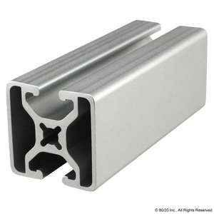 "1504-LS  1.5"" X 1.5"" Lite Smooth Surface T-Slotted Profile - Two Opposite Open T-Slots"