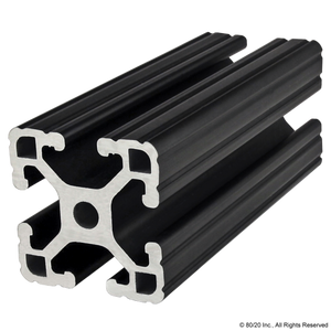 "1515-Lite-Black 1.50"" X 1.50"" Lite T-Slotted Profile - Four Open T-Slots"