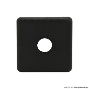 2015-Plain End Cap for PN 1010 Black w/ Push-Ins