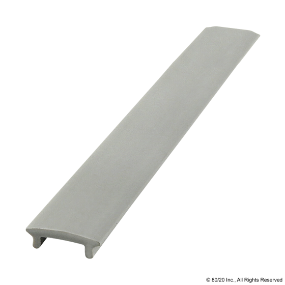 "2114 10 Series T-Slot Cover Grey 72.5"" Stock Length"