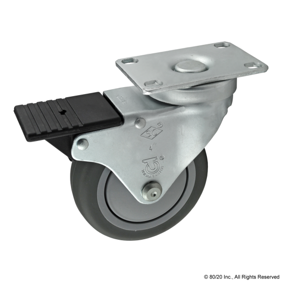 2321 Flanged Mount Swivel Caster: 4