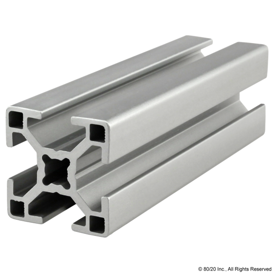 30-3030 30mm X 30mm T-Slotted Profile - Four Open T-Slots