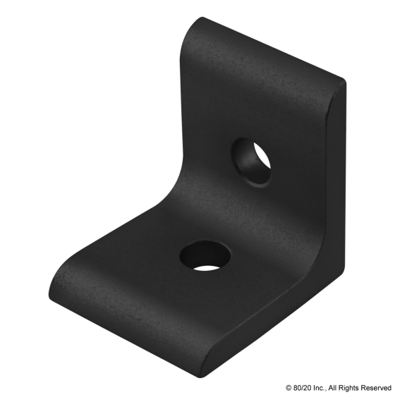 4302-Black 15 Series 2 Hole - Inside Corner Bracket