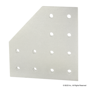 4328 15 Series 12 Hole - 90 Degree Angled Flat Plate