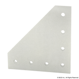 4352 15 Series 7 Hole - 90 Degree Angled Squared Flat Plate