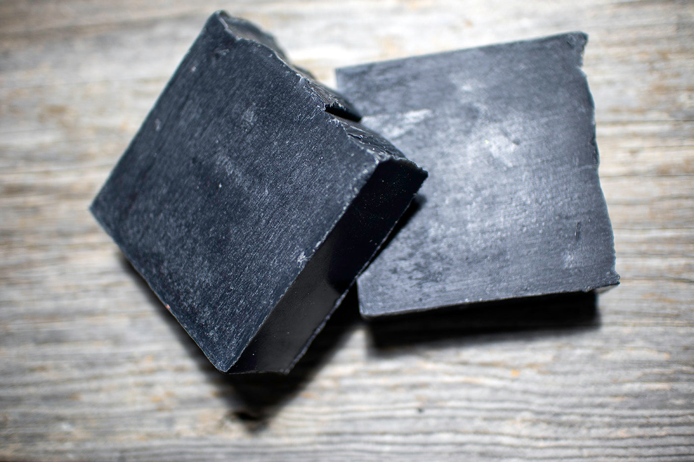 Two 4 oz bars of activated coconut charcoal beard soap - Wicked Beard Company