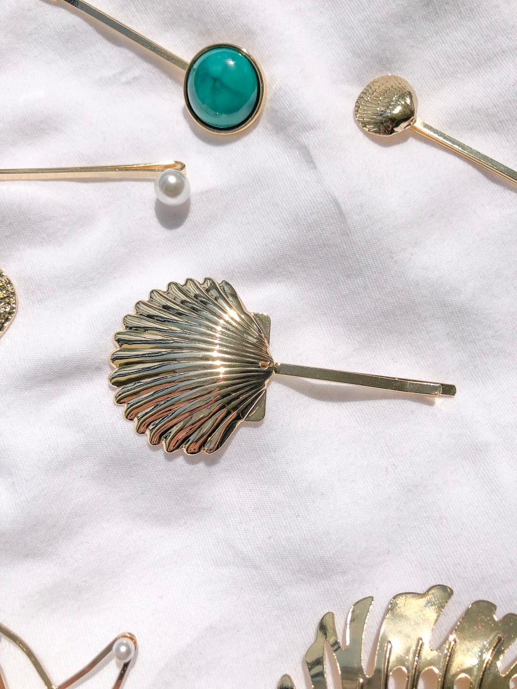Gold Seashell Hair Pin