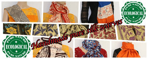 Handmade pure Indian silk scarves