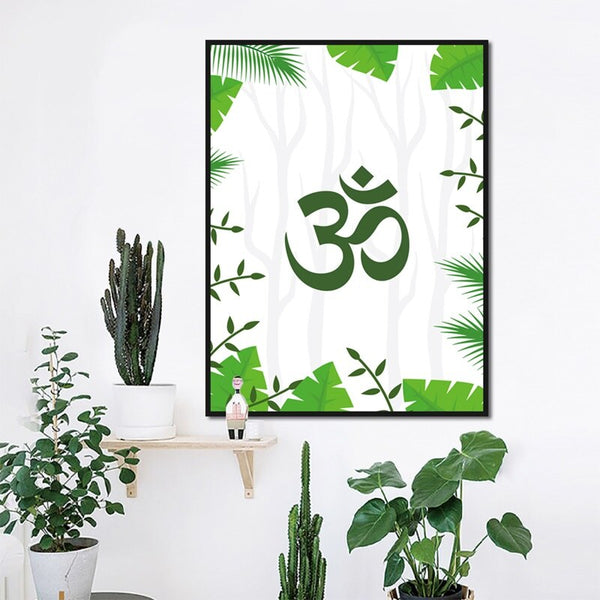 Sacred sound Om or Aum on canvas - Free Shipping (3-4 weeks)