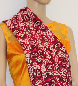 Pure Silk hand printed scarf - Pure Silk hand printed stole - style-art-villa