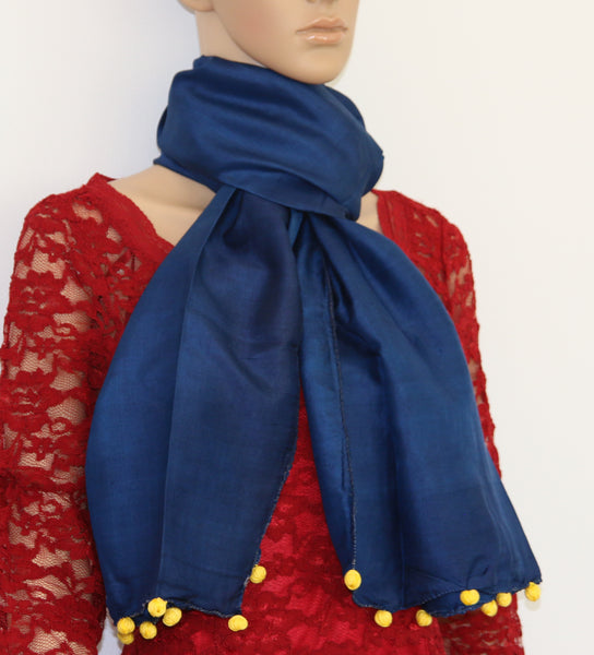 Pure Silk hand colored scarf