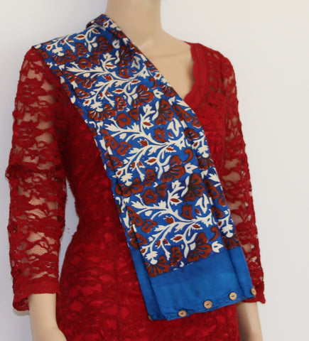 Pure Silk hand printed scarf