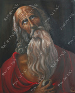 SAV - Saint Jerome inspired by old master Guido Reni - Oil painting on canvas