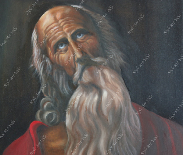 Saint Jerome - Oil painting inspired by Guido Reni - Original signed oil painting - style-art-villa