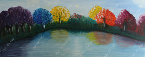 SAV - Abstract colourful landscape painting