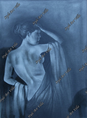 Desire - A charcoal study - Original signed charcoal study - style-art-villa