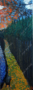 SAV -By the River - Abstract Oil painting on canvas