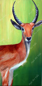 African Antelope - Oil painting - Original signed oil painting - style-art-villa